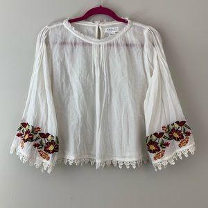 Velvet Graham Spencer Embroidered Bell Sleeve Lace